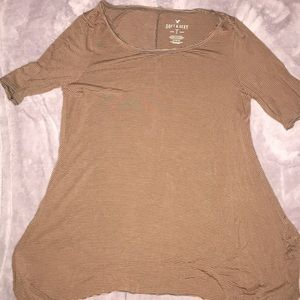 American Eagle Outfitters Tops - Brown and Gray striped tunic